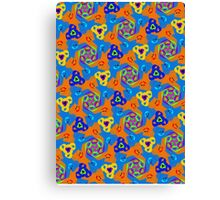 Kids Cute Hand Drawn Doodle Pattern  Canvas Print