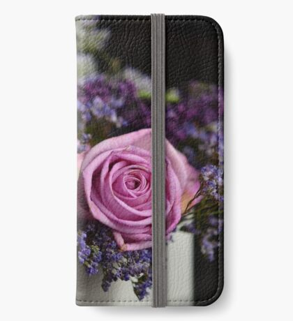 Purple Rose Closeup iPhone Wallet/Case/Skin