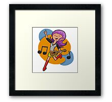 Ukulele Girl Framed Print