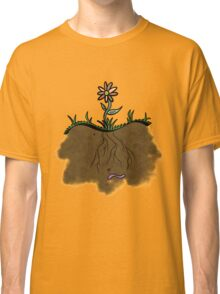 Happy Worm, Happy Flower Classic T-Shirt