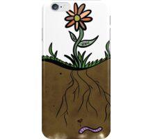 Happy Worm, Happy Flower iPhone Case/Skin