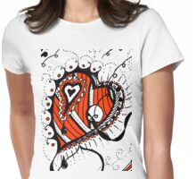 Miniature Aussie Tangle 05 in Red White and Black Womens Fitted T-Shirt