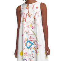 Abstract Mania A-Line Dress