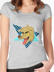 IT'S PIZZA DOG! (80's vers) Women's Fitted Scoop T-Shirt