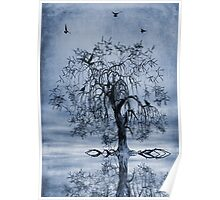The Wishing Tree Cyanotype Poster