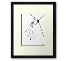 Sketch of fear Framed Print