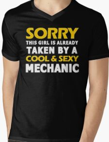 Sorry this girl is already taken by a cool & sexy mechanic - T-shirts & Hoodies Mens V-Neck T-Shirt