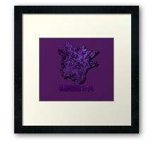 Gengar #94 Silhouette T-Shirt and other products Framed Print