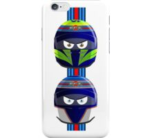 WILLIAMS_MASSA_BOTTAS_Helmets_2014 iPhone Case/Skin
