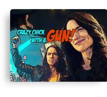 Wynonna Earp - crazy chick with a gun Canvas Print