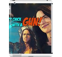 Wynonna Earp - crazy chick with a gun iPad Case/Skin