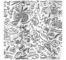 - Coffee Shop pattern - Poster