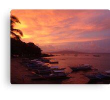 Sunset over Puerto Galera, Philippines Canvas Print