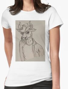The Cow Boy Womens Fitted T-Shirt