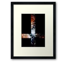 Red Galaxy Inverted Cross Framed Print