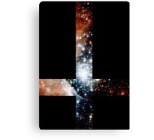 Red Galaxy Inverted Cross Canvas Print
