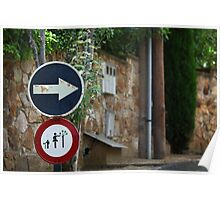 Bizarre Road signs  Poster