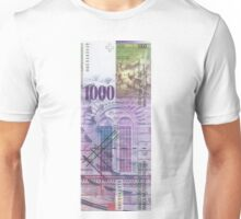 1000 Swiss Franc Bill Unisex T-Shirt