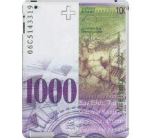 1000 Swiss Franc Bill iPad Case/Skin
