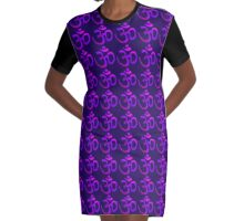 Om Lilas Graphic T-Shirt Dress