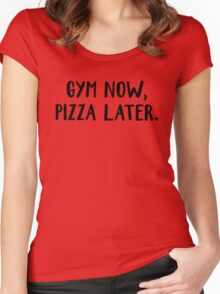 gym now Women's Fitted Scoop T-Shirt
