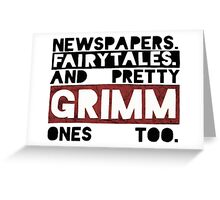 Newspapers. Fairytales. Greeting Card