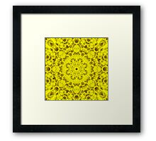 """Spirit of India: Fleur-Sun"" in golden yellow Framed Print"