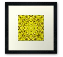 """""""Spirit of India: Fleur-Sun"""" in golden yellow Framed Print"""