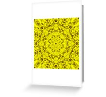 """Spirit of India: Fleur-Sun"" in golden yellow Greeting Card"