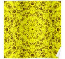 """Spirit of India: Fleur-Sun"" in golden yellow Poster"