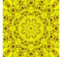 """Spirit of India: Fleur-Sun"" in golden yellow Photographic Print"