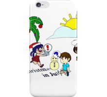 Christmas in July tshirt iPhone Case/Skin