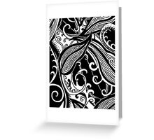 Forest Floor Aussie Tangle 019 in Black with Transparent Background Greeting Card