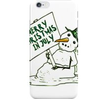 Christmas in July 2016  tshirt  iPhone Case/Skin