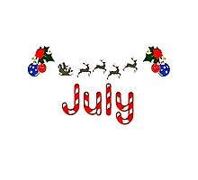 Christmas in July 2016  tshirt  Photographic Print