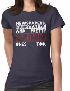 Newspapers. Fairytales. Womens Fitted T-Shirt