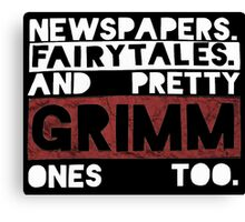 Newspapers. Fairytales. Canvas Print