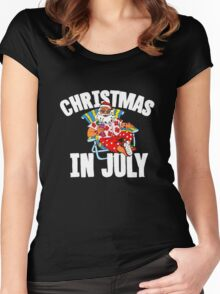 Christmas in July 2016  tshirt  Women's Fitted Scoop T-Shirt