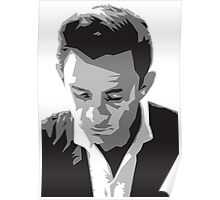Grayscale Johnny Cash Poster