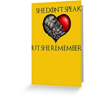 Lady Stoneheart Greeting Card