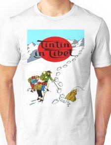 Tintin in Tibet Cover Print Unisex T-Shirt