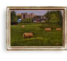 A Little Bit of Country ... with a canvas and framed look Canvas Print