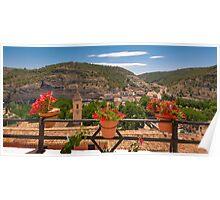 A view from a balcony - Alcalá del Júcar Poster