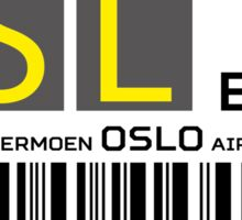 Destination Oslo Airport Sticker