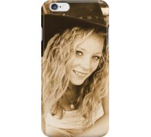 Young cowgirl portrait iPhone Case/Skin