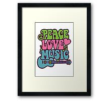Peace Love Music Framed Print