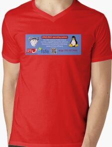 GPL Mens V-Neck T-Shirt