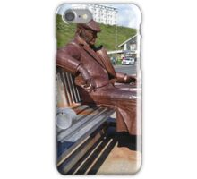 Beach statue sitting man freddy iPhone Case/Skin