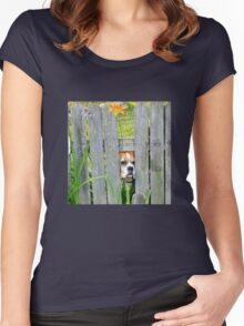 Boxer, Dog, Sweetheart Pet Women's Fitted Scoop T-Shirt