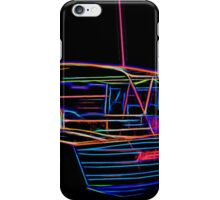 Neon Painting Aussy Boy and his boat iPhone Case/Skin
